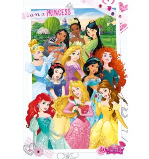 Poster - Disney Princess (I Am A Princess)