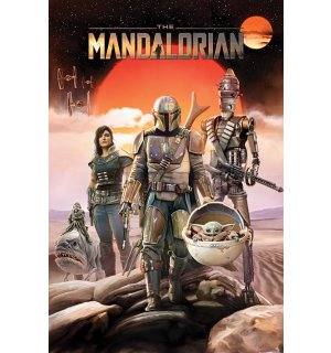 Poster - Star Wars The Mandalorian (Group)