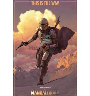 Poster - Star Wars The Mandalorian (On The Run)